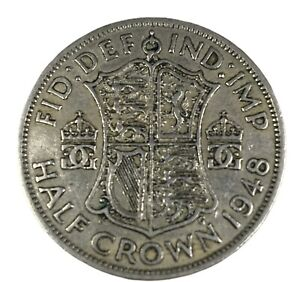 A 1948 Dated Silver British Half Crown Coin. King George VI