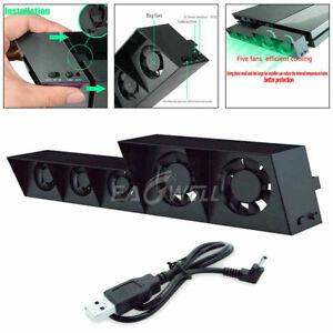External USB Super Heatsink 5 Fans Turbo Cooler System For TP4-005 PlayStation 4