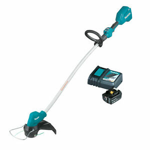 Makita Brushless 18V Cordless Brushcutter Line Trimmer & 4ah Battery Charger Kit
