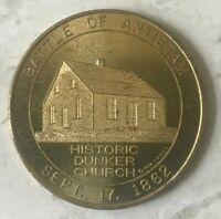 Battle of Antietam Historic Dunker Church Token - Good For 50 Cents in Trade