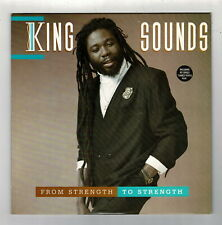 KING SOUNDS-from strength to strength    viza LP   (hear)   reggae with poster