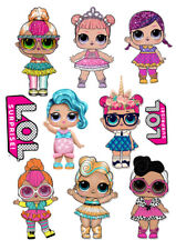 LOL Doll OMG characters set decoration ICING WAFER edible cake topper A4