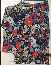 Womens ALFRED DUNNER~Colorful SKIRT Suit SET~size 10~NEW~2 Piece Outfit~Floral