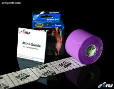 Ares Tape Precut - Kinesiology Elastic Sports Tape PRO - Purple - Support KT