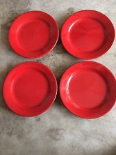 """Pier One""""RED""""salad Plates Set Of Four"""