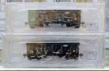 N Scale BLUFORD SHOPS 63102 ILLINOIS TERMINAL 2-Bay War Emergency Hoppers 2-PACK