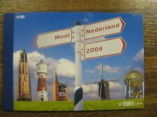 xxx NVPH Prestigeboekje nr. 20 - Mooi Nederland 2008. Cat.w. 25,--
