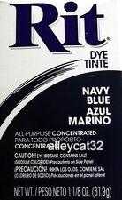 Rit Fabric Dye Powder - NAVY BLUE - 1 1/8 oz Tie Dyeing, Feathers