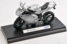 BLITZ VERSAND MV Agusta F4S 1+1 / F 4 S silber Welly Motorrad Modell 1:18 NEU
