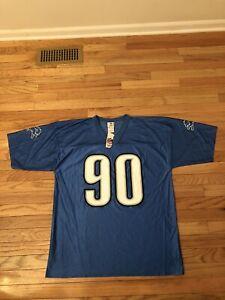 Ndamukong Suh Detroit Lions NFL Team Apparel Jersey NWT Men's Size L
