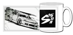 nissan 200sx mug, s15, s14, s13, drift, initial d, gift, sr20, silvia, 240sx
