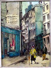 1952 PARIS STREETS OIL PAINTING~RUES GALANDE, STE JULIEN LE PAUVRE(?)~MABET FOSS