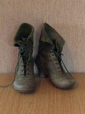 El Naturalista Olive Green Boots UK 5 EU 38
