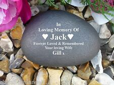 Memorial Gift Personalised Pebble (Stone effect) Completely Weatherproof