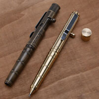 Handmade Brass Copper Ballpoint Pen Tools EDC Retro Bolt Type Tacticals Pen Gift
