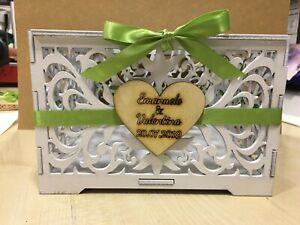 Scatola wedding porta buste regali matrimonio in legno personalizzata a laser