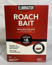 Spectrum Eliminator ROACH Bait 12 Stations NIB Kills Roaches & Eggs Poison