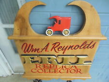 ERTL Toys Wooden Replica Collector Sign Handmade Carved wood