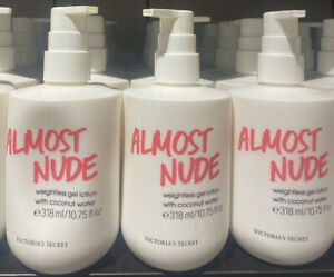 3x Victoria's Secret Almost Nude Weightless Lotion W/Coconut Water NEW