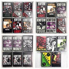 KMFDM - Cassette Tape Lot - (23) Tapes - Wax Trax! Rare Titles!!!