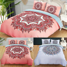 Bohemian Style Soft Bedding Set Quilt Duvet Cover Comforter Pillowcase All Size