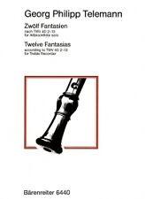 TELEMANN FANTASIAS (12) Harras Treble Recorder