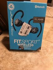 New Jlab Audio - FitSport 2.0 Wireless Earbud Headphones - Bluetooth Black/Blue