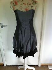 Vestido de Boda brillo metálico y negro de fiesta palabra/Cóctel/Talla M 8/10 b.n