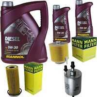 Motor-Öl 7L MANNOL Diesel TDI 5W-30+MANN-FILTER Filterpaket Audi A6 4F2 C6 2.4
