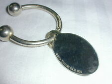 AUTHENTIC TIFFANY & CO STERLING OVAL TAG KEY CHAIN- 2001!