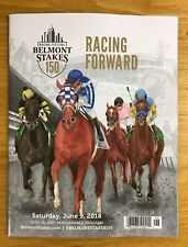 Justify Triple Crown Winner Belmont Stakes Program 2018