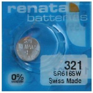 Pile pour montre Renata SR616SW 321 SR65 pile bouton 0% mercure Swatch