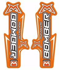 Marzocchi Bomber Fork / Suspension Graphic Decal Kit Sticker Adhesive Set Orange
