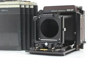 *MINT* TOPCON Horseman 45HF 4x5 Large Format Field Camera w/Cut Film Holder x5