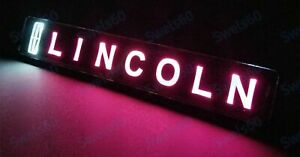 LED Car For Front Grille Badge Illuminated Decal Sticker For LINCOLN Light 1 PC