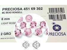 288 Preciosa Genuine Czech Crystals, Bicone Beads 6mm Light Rose color