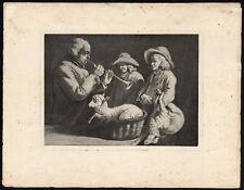 Antique Master Print-OBOE PLAYER MUSIC-SHEPHERD-Jean-Jacques de Boissieu-1782