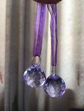 2PCS VIOLET 20MM CRYSTAL CHANDELIER PART GLASS LUSTER PRISMS BALL PENDANTS