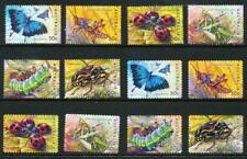 Australian 2003 Bugs and Butterflies, 12 stamps, used
