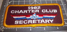 1982 AMA Charter Club Secretary Embroidered Patch, great collectible