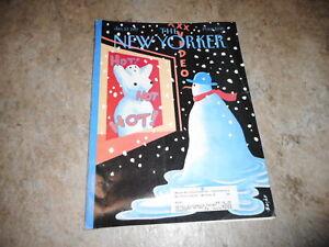 JAN 27 1997 NEW YORKER vintage magazine - HOT SNOW MAN