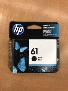 New Genuine HP 61 Black Ink Cartridge Officejet 2620 Envy 4501 4507 Exp 2022