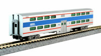 KATO 1560971 N SCALE Chicago Metra 7848 Pullman Bi-Level 4-Window Coach 156-0971