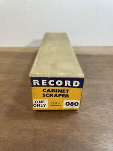 Vintage Unused Record No. 80 Cabinet Scraper Plane Woodwork Tool  - Boxed
