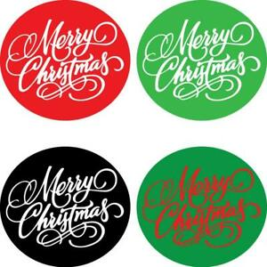 Merry Christmas Stickers Santa Father Present Xmas Gift Bags Round Logo Labels