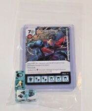 DC Dice Masters World's Finest * SUPERMAN * Set of 4 Cards Starters + 4 Dice