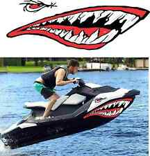 Sea-Doo Bombardier Spark 2 3 Jet Wrap Jetski seadoo shark mouth decal mean eye