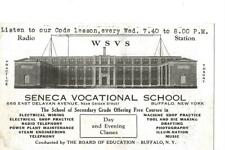 192?  WSVS Seneca Vocational School   QSL radio card