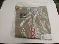 Dockers Signature Khaki Collection Slim Fit Flat Front W34 L30 Dress pants Beige
