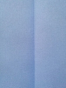 AIDA 14 COUNT BLUE CROSS STITCH FABRIC MATERIAL 100% COTTON  **10% OFF 3+**